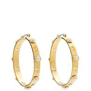 🔥Tory Burch Large C-shaped Pearl Stud Earrings